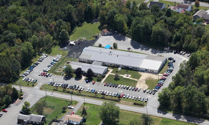Aerial view of our Kingston school